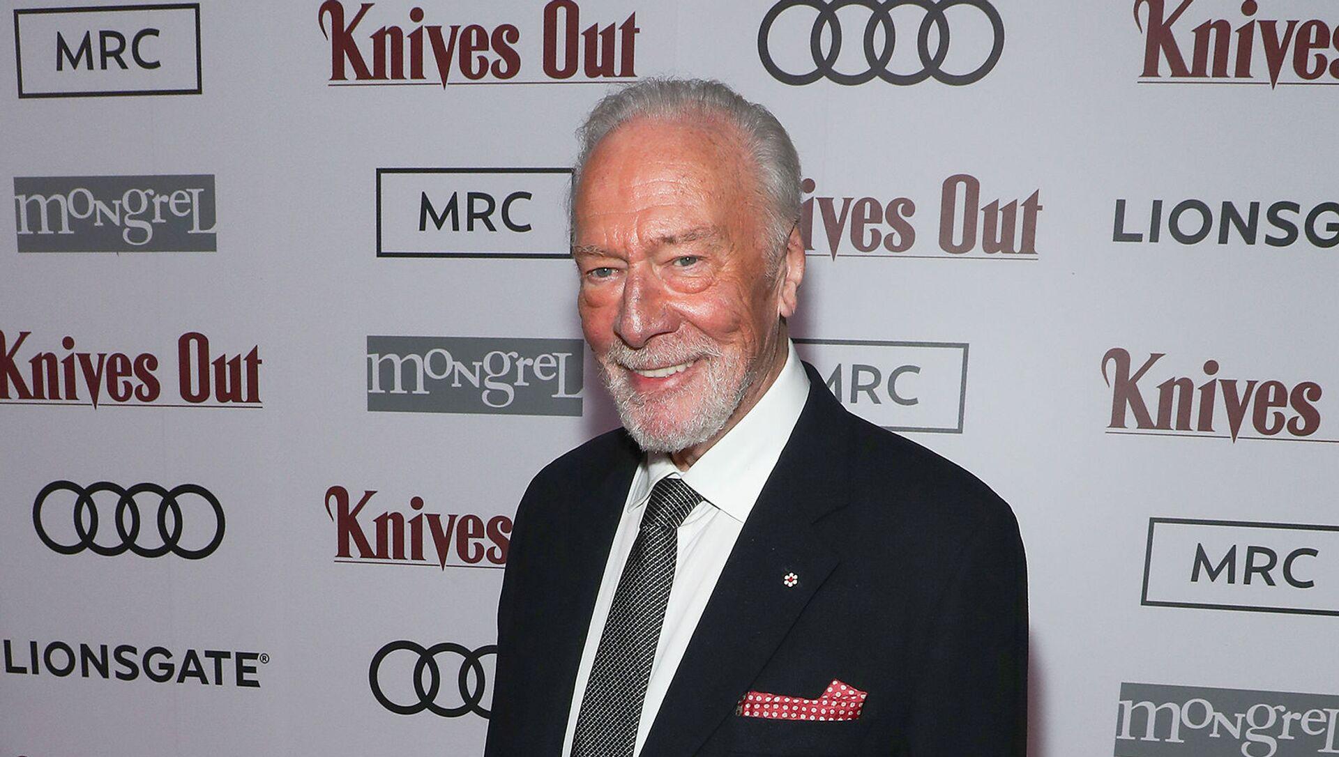 Кристофер Пламмер после показа фильма «Knives Out», организованное Audi Canada, Lionsgate, Mongrel Media и MRC в Patria (7 сентября 2019). Торонто - Sputnik Армения, 1920, 05.02.2021