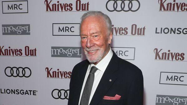 Кристофер Пламмер после показа фильма «Knives Out», организованное Audi Canada, Lionsgate, Mongrel Media и MRC в Patria (7 сентября 2019). Торонто - Sputnik Армения