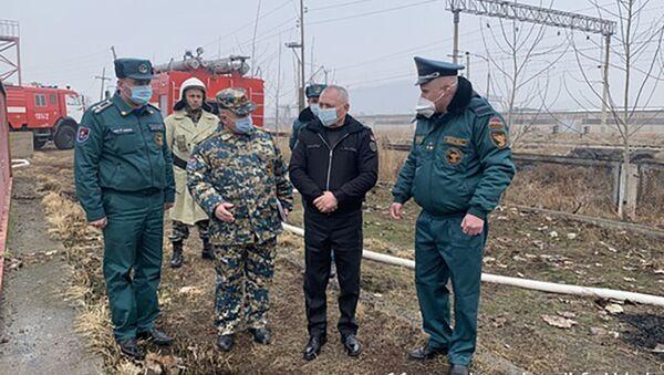 Министр по чрезвычайным ситуациям Андраник Пилоян посетил Армавирскую пожарно-спасательную бригаду (8 февраля 2021).  - Sputnik Արմենիա