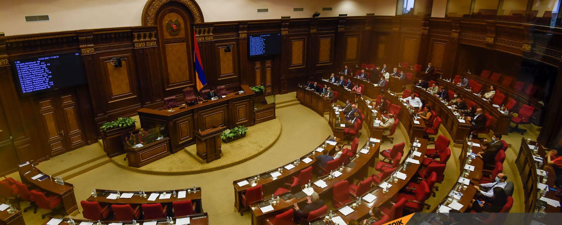 Заседание в Парламенте (10 февраля 2021). Еревaн - Sputnik Армения, 1920, 30.07.2021