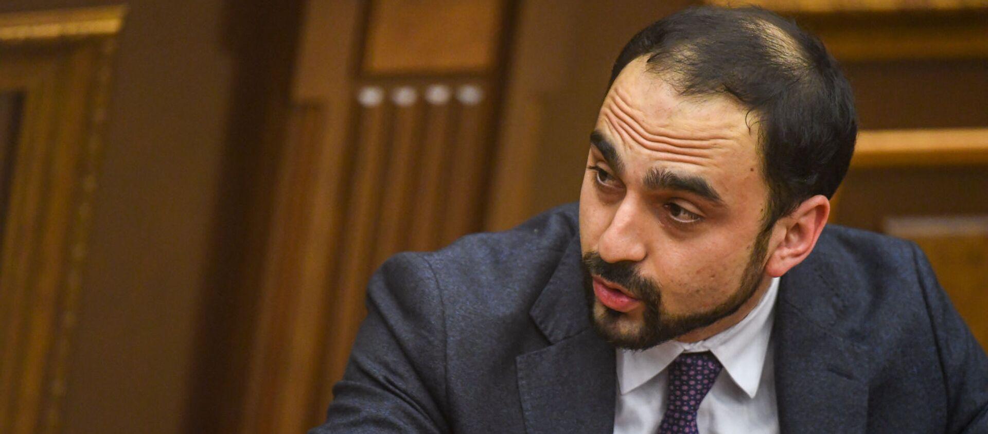 Вице-премьер Тигран Авинян на заседании в Парламенте (10 февраля 2021). Еревaн - Sputnik Армения, 1920, 09.07.2021
