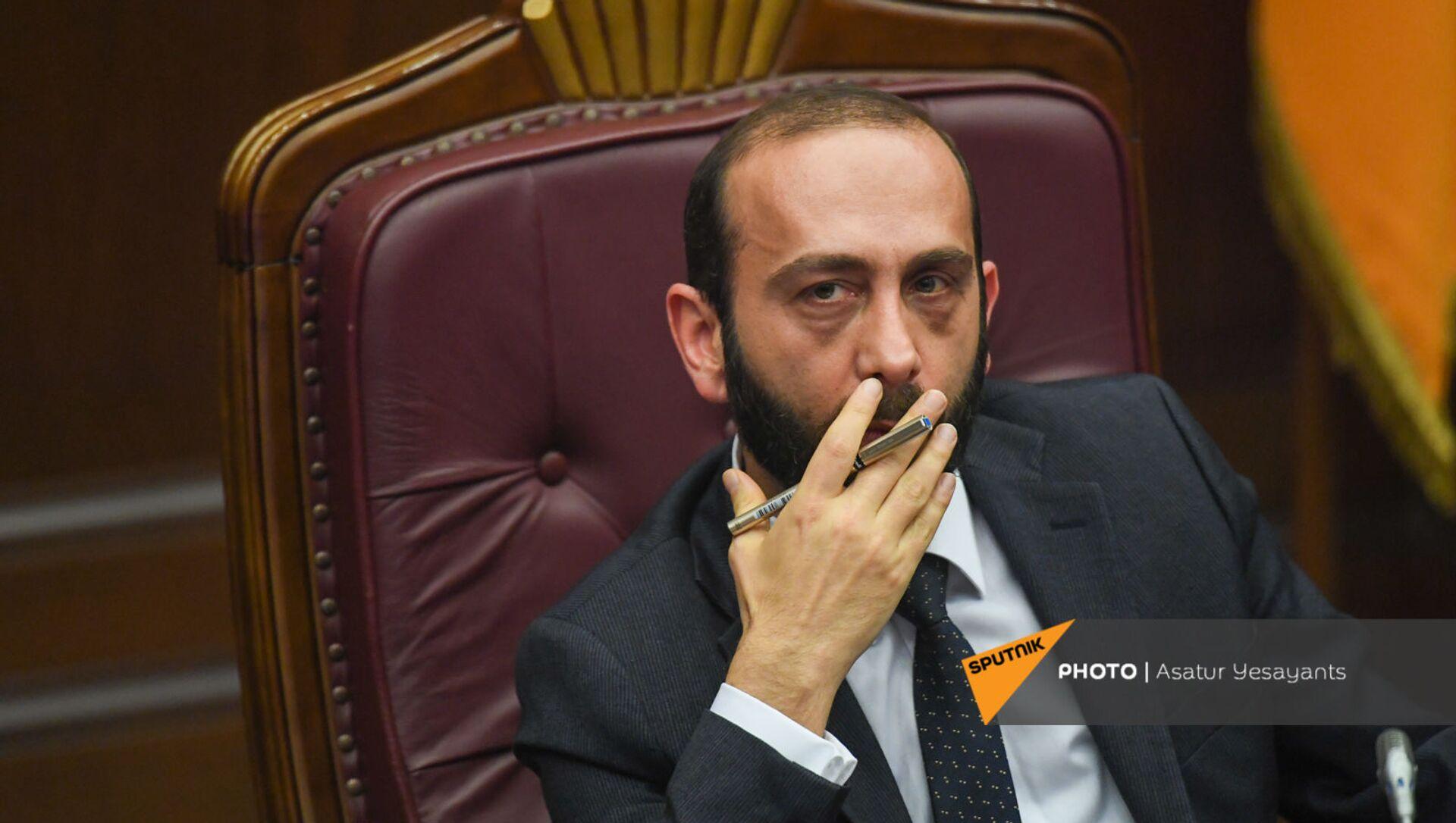 Спикер НС Арарат Мирзоян на заседании в Парламенте (10 февраля 2021). Еревaн - Sputnik Армения, 1920, 20.07.2021