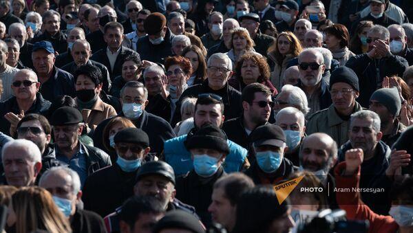 Митинг оппозиции (12 февраля 2021). Еревaн - Sputnik Армения