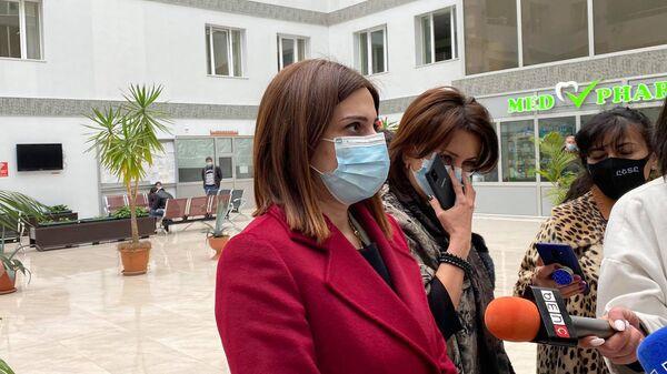 Министр здравоохранения Анаит Аванесян во время посещения Медицинского центра Гюмри (12 февраля 2021). Гюмри - Sputnik Армения
