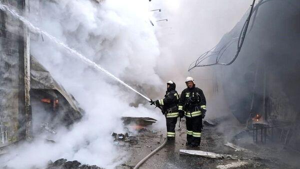 Пожар на рынке в Волгограде - Sputnik Армения
