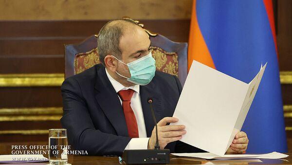 Премьер-министр Никол Пашинян во время заседания Совета антикоррупционной политики (16 февраля 2021). Еревaн - Sputnik Արմենիա