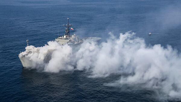 Իրանի ռազմածովային ուժերի Lavan (514) դեսանտային նավը Իրանի և Ռուսաստանի ռազմածովային ուժերի զորավարժություններին - Sputnik Արմենիա