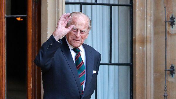 Принц Филипп, герцог Эдинбургский прибывает на церемонию передачи главнокомандующего винтовками в Виндзорский замок (22 июля 2020). Виндзор - Sputnik Армения