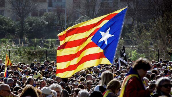 Сторонники независимости Каталонии на митинге во Франции (29 февраля 2020). Перпиньян - Sputnik Արմենիա