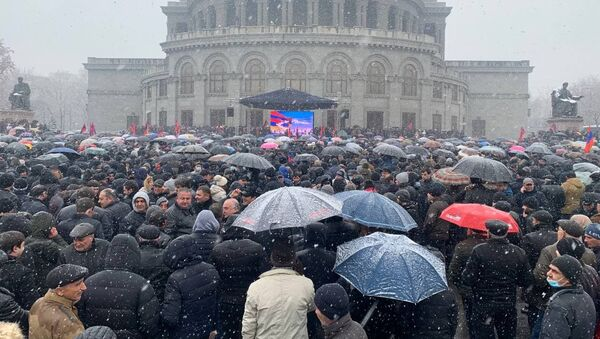 Митинг оппозиции (20 февраля 2021). Еревaн - Sputnik Արմենիա