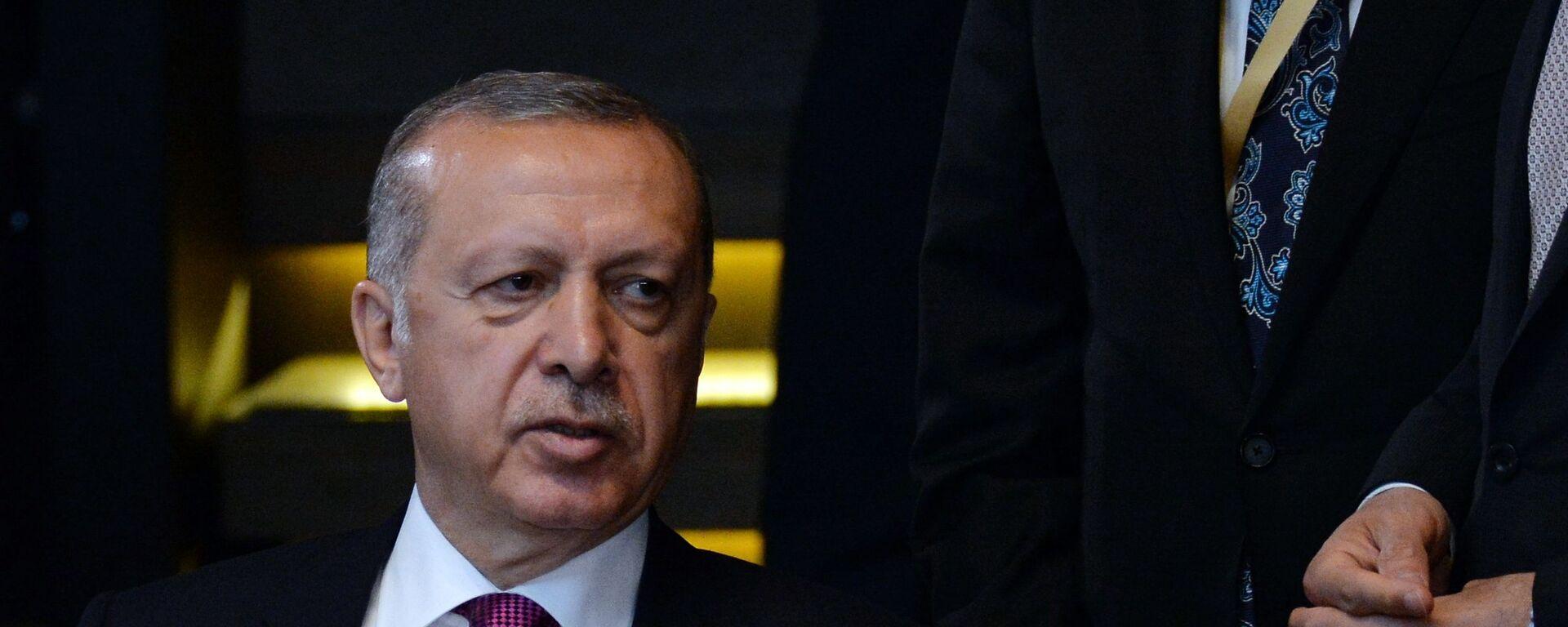 Президент Турции Реджеп Тайип Эрдоган  - Sputnik Армения, 1920, 08.09.2021