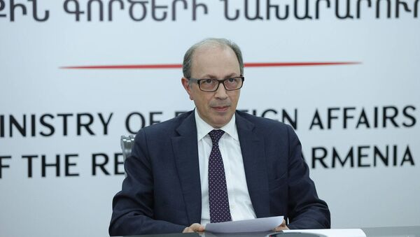 Ара Айвазян принял участие в онлайн-встрече министров иностранных дел на тему «Альянс за универсальность» под председательством Германии и Франции (24 февраля 2021). Еревaн - Sputnik Արմենիա