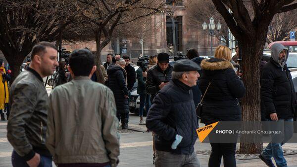 Ситуация на площади Республики (25 февраля 2021). Еревaн - Sputnik Армения