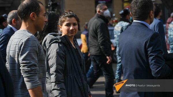 Мариам Пашинян во время митинга (25 февраля 2021). Еревaн - Sputnik Արմենիա