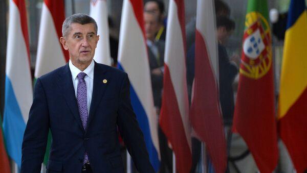Премьер-министр Чехии Андрей Бабиш на саммите глав государств и правительств Евросоюза (12 декабря 2019). Брюссель - Sputnik Армения
