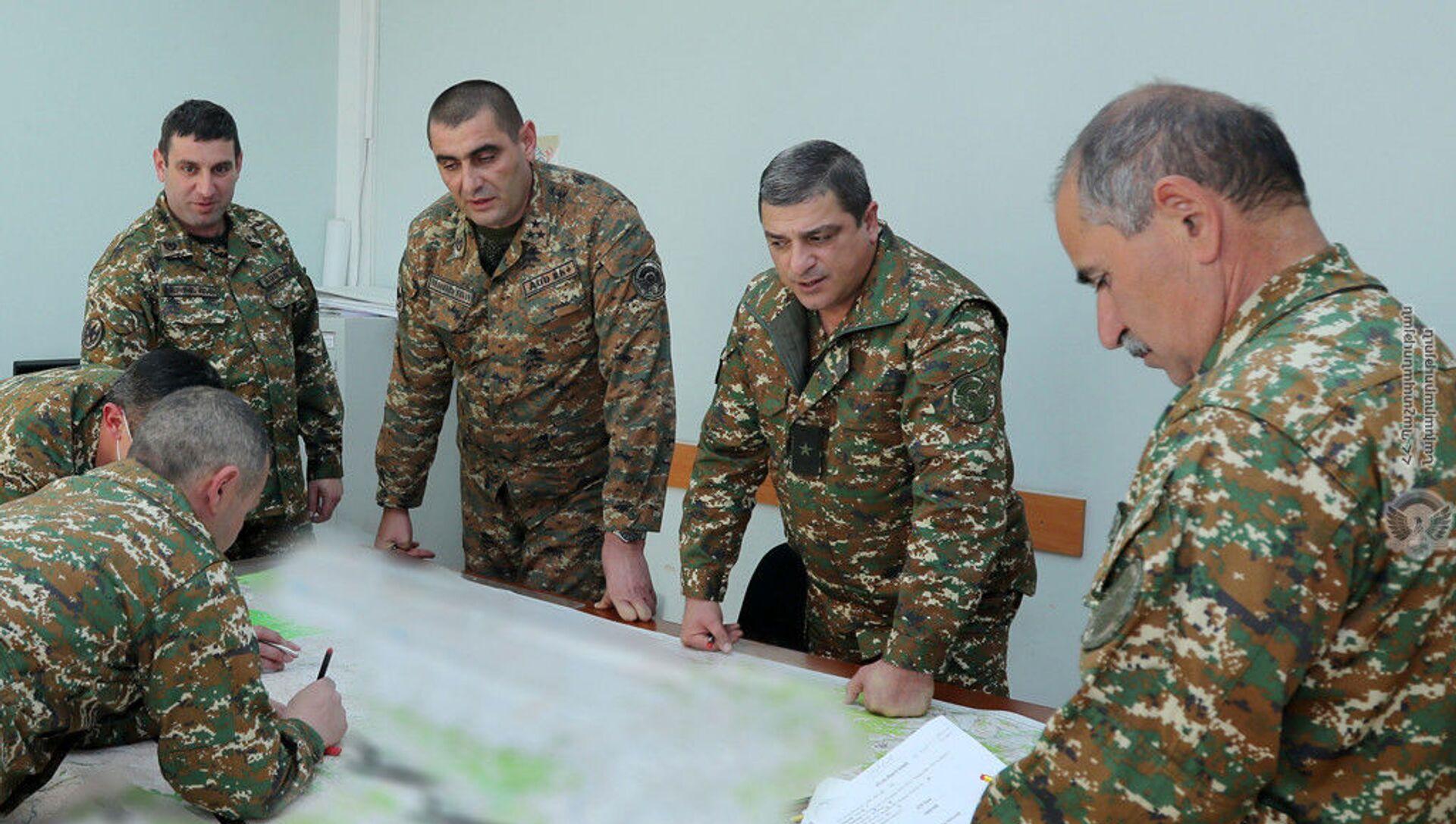 В Генштабе ВС РА проводятся работы по уточнению планов боевой подготовки (март 2021). Армения - Sputnik Армения, 1920, 25.05.2021