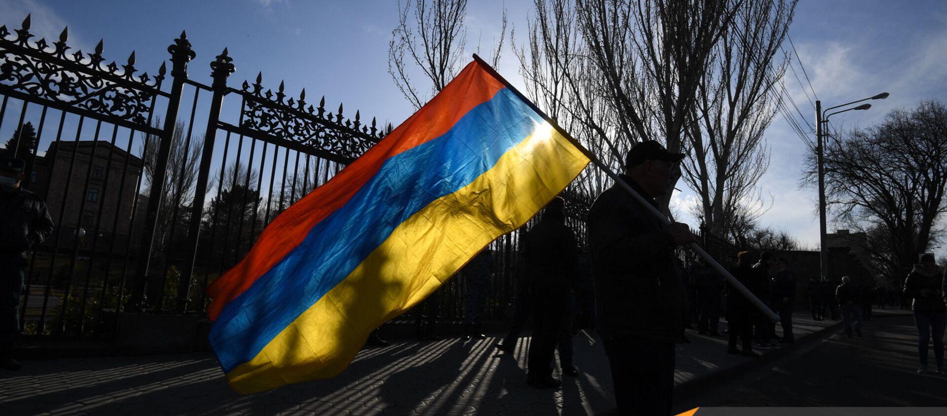 Митинг оппозиции (9 марта 2021). Еревaн - Sputnik Армения, 1920, 20.04.2021