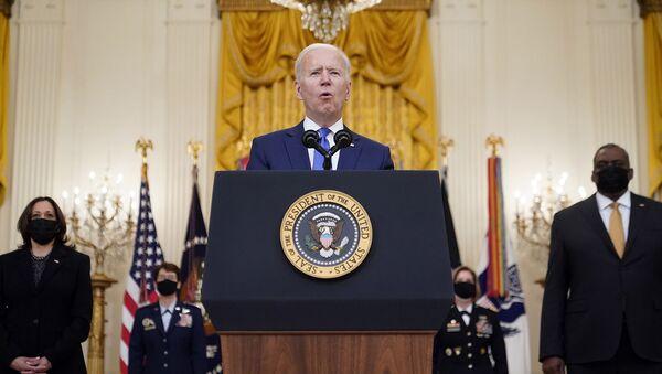 Президент Джо Байден выступает на мероприятии, посвященном Международному женскому дню (8 марта 2021). Вашингтон - Sputnik Արմենիա