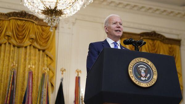 Президент Джо Байден выступает на мероприятии, посвященном Международному женскому дню (8 марта 2021). Вашингтон - Sputnik Армения