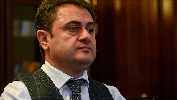 Губернатор Тавушской области Айк Чобанян во время интервью Sputnik Армения - Sputnik Армения