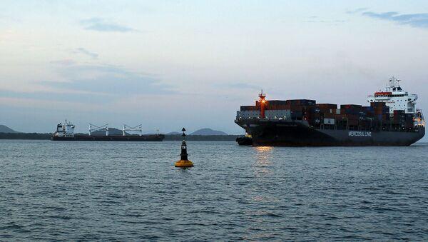 Иранское судно, груженное 48 000 тоннами кукурузы, стоит на якоре в порту Паранагуа (19 июля 2019). Бразилия - Sputnik Армения