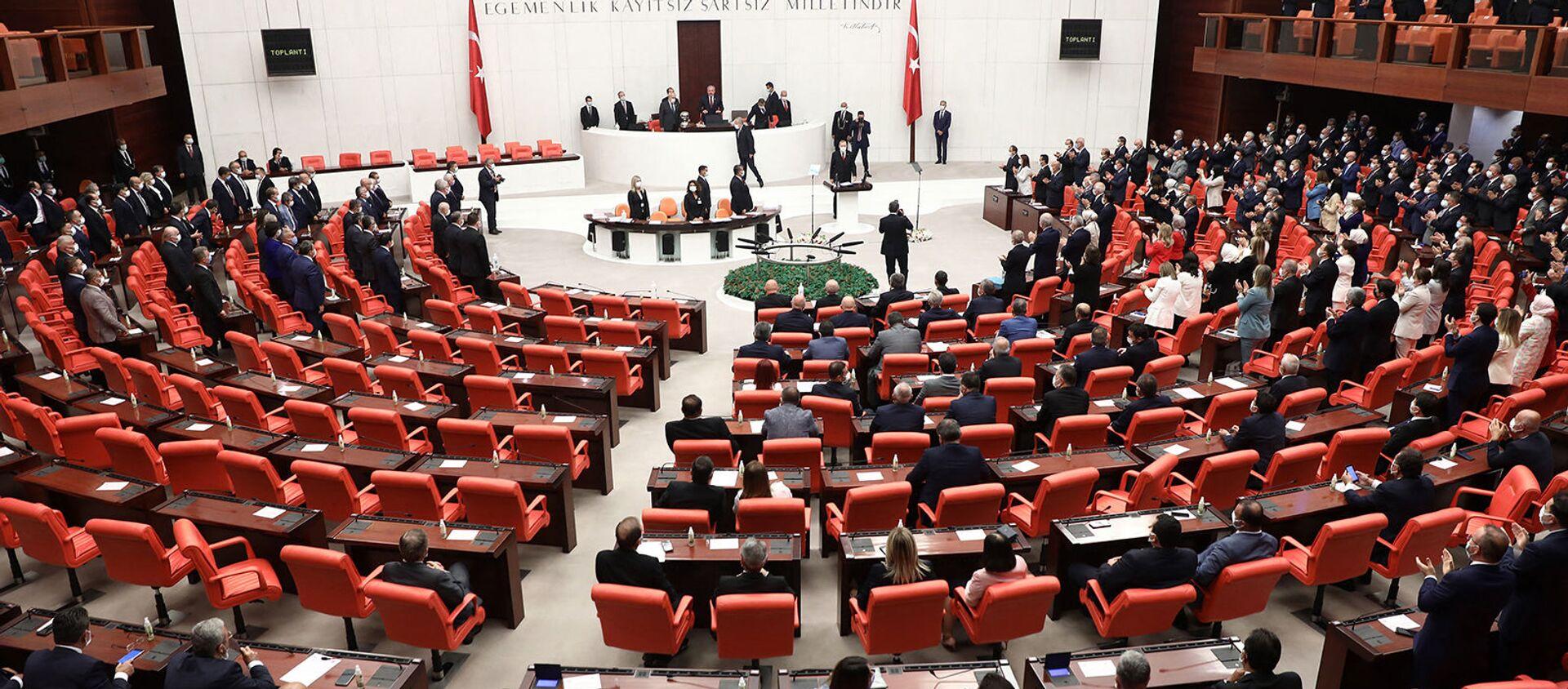 Заседание четвертой законодательной сессии турецкого парламента (1 октября 2020). Анкара - Sputnik Արմենիա, 1920, 13.03.2021