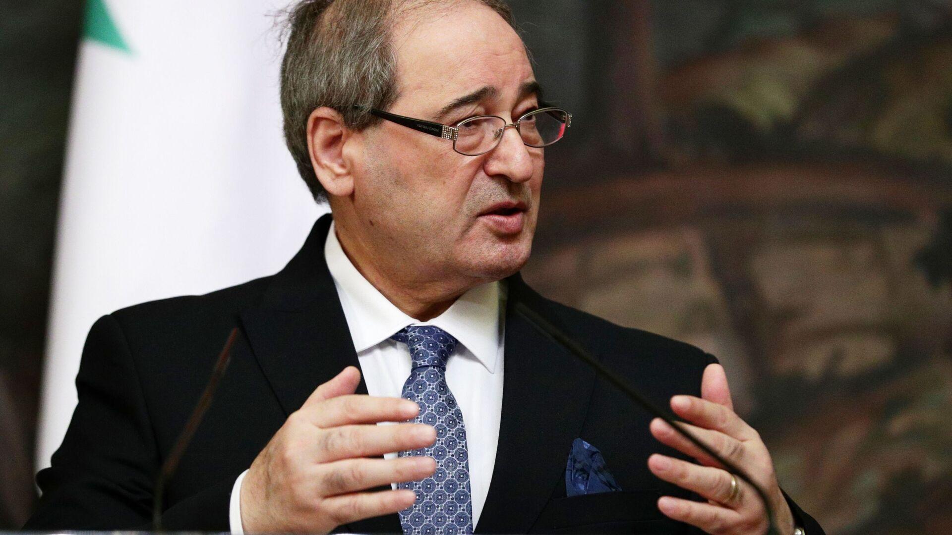 Министр иностранных дел и по делам соотечественников за рубежом Сирии Фейсал Микдад - Sputnik Армения, 1920, 27.09.2021
