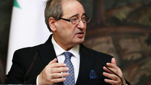 Министр иностранных дел и по делам соотечественников за рубежом Сирии Фейсал Микдад - Sputnik Армения