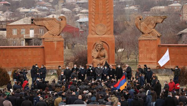 Премьер-министр Никол Пашинян посетил с рабочим визитом Арагацотнскую область (20 марта 2021). Арагацотн - Sputnik Արմենիա