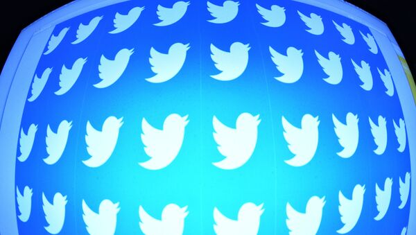 Логотип социальной сети Twitter на экране смартфона - Sputnik Армения