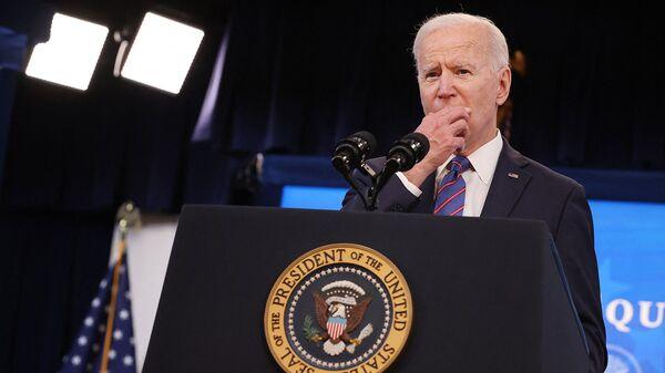 Президент США Джо Байден после подписания прокламации День равной оплаты труда для женщин (24 марта 2021). Вашингтон - Sputnik Армения