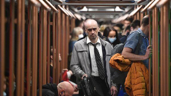 Поезд нового поколения Москва-2020  вышел на кольцевую линию метро - Sputnik Армения
