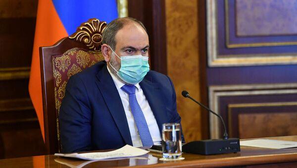 Никол Пашинян на заседании комиссии по предотвращению распространения коронавируса в Армении (29 марта 2021). Еревaн - Sputnik Արմենիա