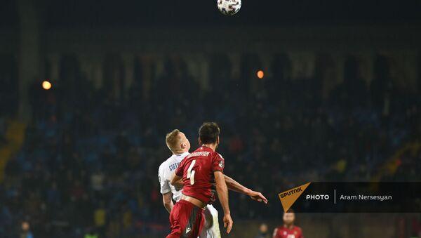 Матч отборочного турнира ЧМ по футболу между командами Армении и Исландии (28 марта 2021). Еревaн - Sputnik Արմենիա