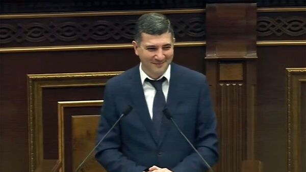 Член госкомиссии Армении по защите экономической конкуренции Едгар Джагарян на очередном заседании Парламента (28 июня 2019). Еревaн - Sputnik Արմենիա