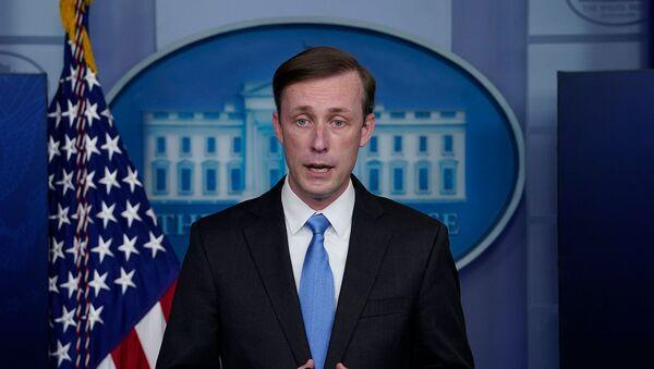 Советник президента США по национальной безопасности Джейк Салливан во время пресс-брифинга в Белом доме (4 февраля 2021). Вашингтон - Sputnik Армения