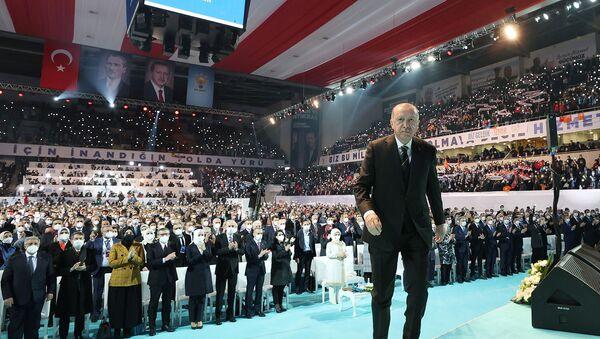 Президент Турции Тайип Эрдоган на Большом съезде своей правящей партии AK (24 марта 2021). Анкара - Sputnik Արմենիա