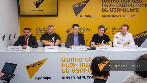 Пресс-конференция, посвященная записи всех 9 симфоний Людвига Ван Бетховена (2 апреля 2021). Еревaн - Sputnik Արմենիա