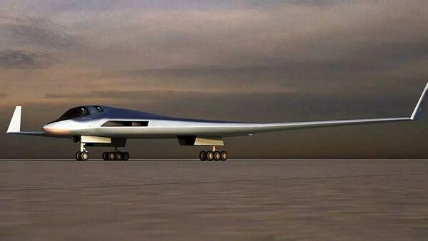 Эскиз перспективного авиационного комплекса дальней авиации (ПАК ДА, или Изделие 80)  - Sputnik Արմենիա