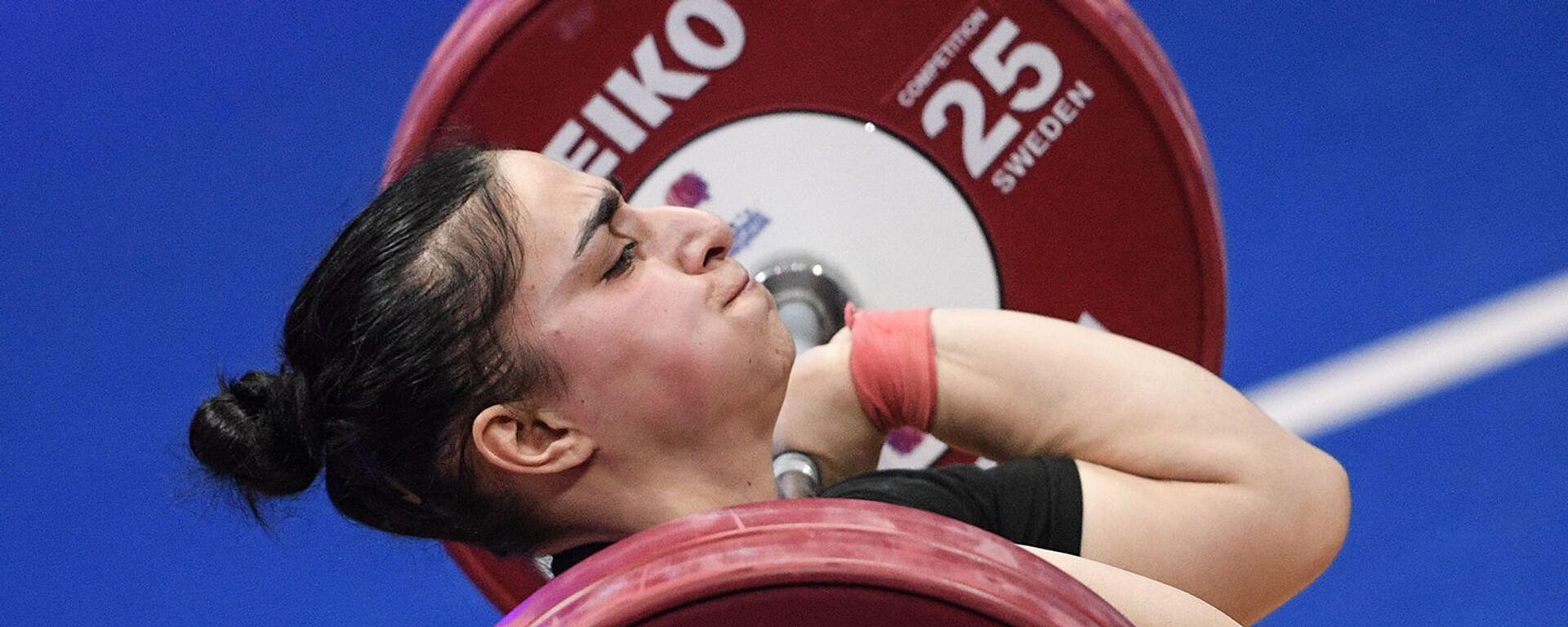 Лиана Гюрджян выступает на чемпионате Европы по тяжелой атлетике в весовой категории до 81 кг среди женщин (9 апреля 2021). Москвa - Sputnik Արմենիա, 1920, 29.05.2021