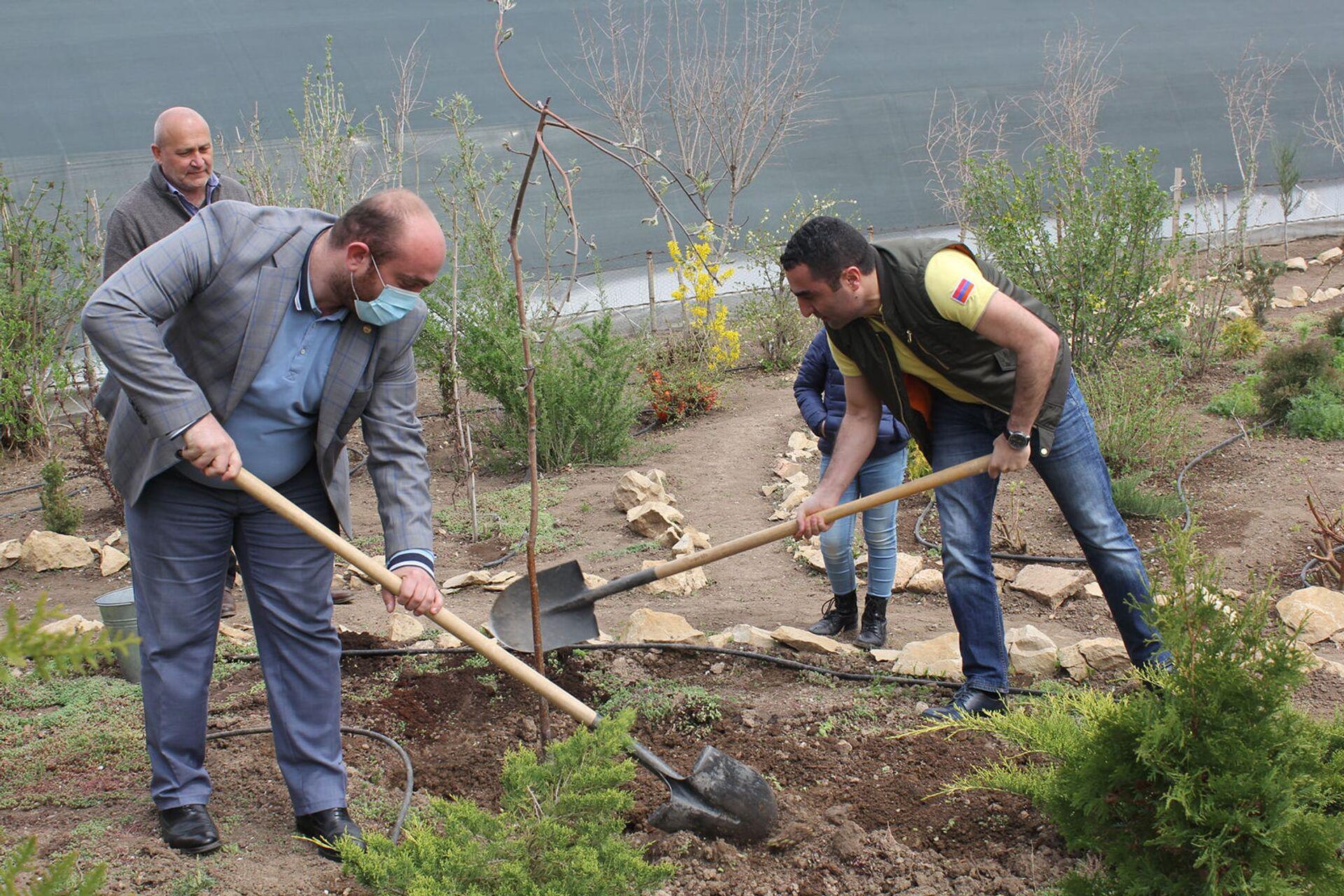 Романос Петросян предложил послу Казахстана присоединиться к посадке деревьев 25 апреля - Sputnik Армения, 1920, 19.04.2021