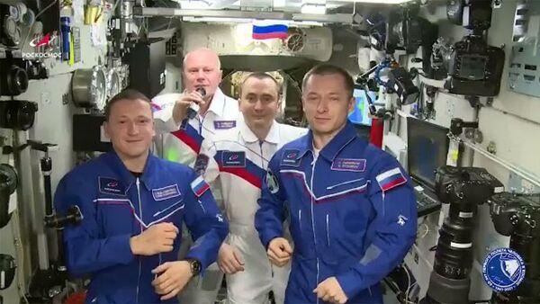 Поздравление экипажа МКС с Днем космонавтики - Sputnik Արմենիա