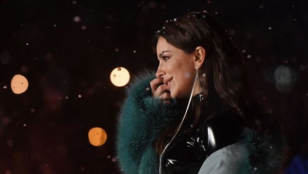 Певица Ани Лорак на съемках программы Новогодняя ночь на Первом (18 декабря 2019). Москвa - Sputnik Արմենիա