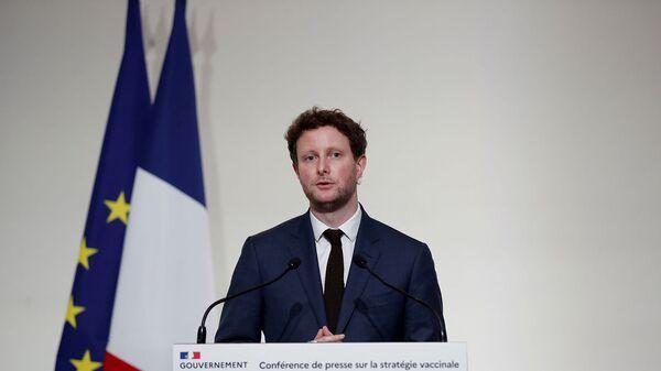Младший министр Франции по европейским делам Клеман Бон на пресс-конференции (3 декабря 2020). Париж - Sputnik Армения