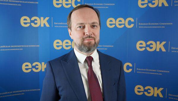 Директор департамента антимонопольного регулирования ЕЭК Алексей Сушкевич - Sputnik Армения
