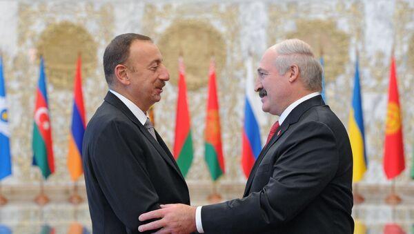 Президенты Белоруссии и Азербайджана Александр Лукашенко и Ильхам Алиев - Sputnik Армения