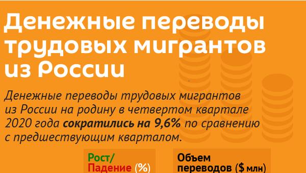 Денежные переводы трудовых мигрантов из России - Sputnik Армения