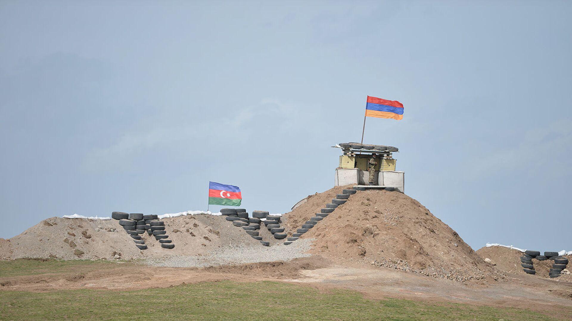 Военные посты на армянсо-азербайджанской границе - Sputnik Армения, 1920, 21.07.2021