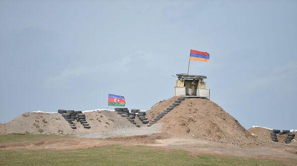Военные посты на армянсо-азербайджанской границе - Sputnik Армения