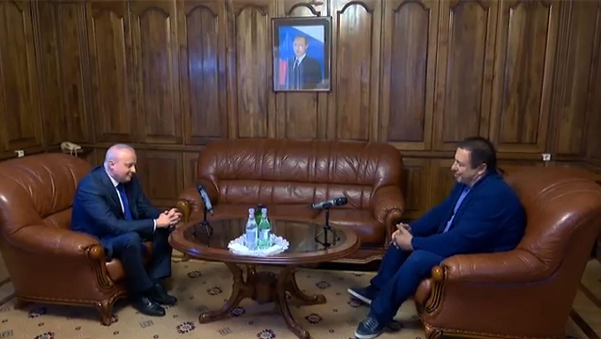 Руководитель фракции Процветающая Армения Гагик Царукян посетил посольство России (22 апреля 2021). Еревaн - Sputnik Армения, 1920, 22.04.2021